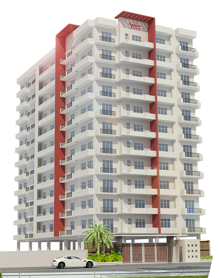 Residential Building Front Elevation : Current project gt span tower